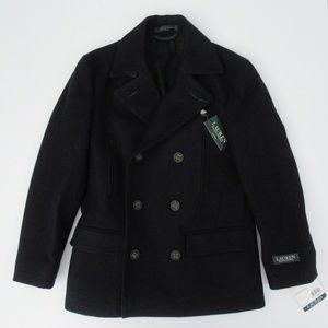 Ralph Lauren Navy Wool Dress Pea Coat NWT Sz 20